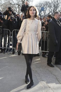 Arrivals for the Chanel Fashion Show - Alexa Chung