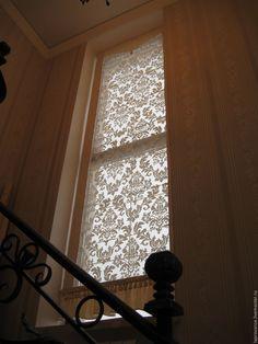 Купить Римская штора на высокое окно - бежевый, шторы, декор для интерьера, декор дома