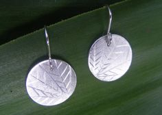 Geometric hand engraved Round Sterling Silver by ButteryJewellery