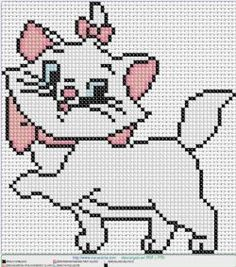 gata marie en punto de cruz. Cross stitch patterns