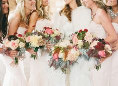 Deep Red and Pink Bouquets | photography by http://www.carolineyoonphotography.com
