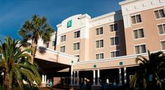 Embassy Suites Destin Miramar Beach Destin This Destin, Florida hotel is located across the street from the beach and provides an outdoor pool and a complimentary made-to-order breakfast daily. Silver Sands Premium Outlets is 14 minutes' walk away.