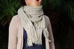 Crochet Chunky Ribbed Scarf