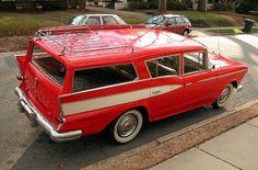 Love this '59 rambler station wagon - I have a thing for all old station wagons, really...