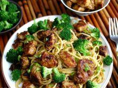Sticky Asian Chicken Spaghetti