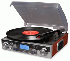 A record player -- not necessarily this one, but I want something to play my vinyls on!