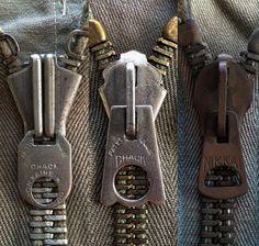 LIGHTNING PIN LOCK PINLOCK ZIP SLIDERS FASTENERS DARK BRASS