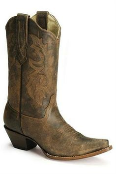 Corral Distressed Leather Cowgirl Boots front