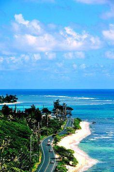 Kamehameha Highway, Oahu, Hawaii.