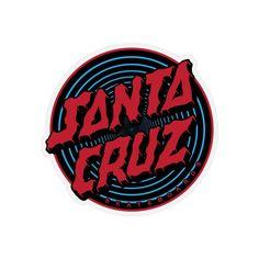 Santa Cruz Logo, Hand Logo, Red And Blue, Dots, Stickers, Skateboard, Panda, Ice Cream, Stitches