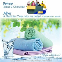 Clean your entire home with JUST WATER! #BeforeAndAfter #AfterIsBetter #HealthyLiving #GreenClean #LiveBetter