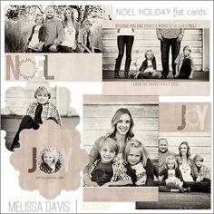 NEW 2012 Noel Holiday flat template set from Melissa Davis Designs!