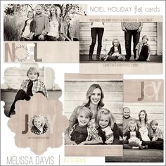 NEW 2012 Noel Holiday flat template set from Melissa Davis Designs!