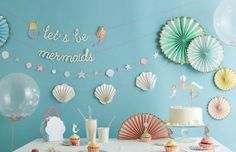 Lets be mermaids garland by Missyspopupshop on Etsy