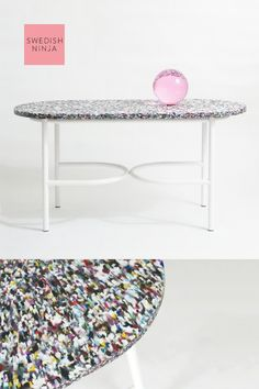 Eye Candy sofa table by SWEDISH NINJA. A new design launched this year at the Stockholm Furniture Using recycled plastic not only is the table incredibly fun but also proving that sustainable design is an attractive design element. Candy Table, Baskets On Wall, Sustainable Design, Elle Decor, Eye Candy, Recycling, Colours, How To Plan, Stockholm
