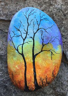 Flowers In Vase Painting, Easy Flower Painting, Acrylic Painting Flowers, Rock Painting Ideas Easy, Pebble Painting, Pebble Art, Stone Painting, Body Painting, Painting Art