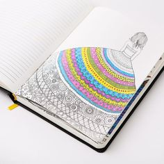 Something to do when you've got a touch of writer's block! Color and relax for a moment, let your mind wander, and come up with your next great idea! Coloring Notebook With Beautiful Coloring Pages Helps Adults Relax | Bored Panda