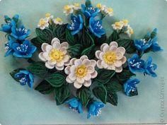 Картина панно рисунок Квиллинг Цветочная Композиция Бумага фото 1