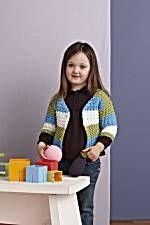 "Lion Brand - Crochet ""Stripe Collage Cardi"" #90522AD"