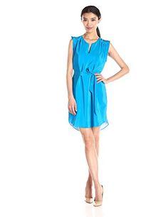 Amanda Uprichard Women's Hamilton Dress, Electric Teal, Large