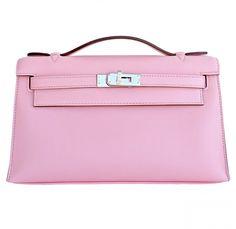 Hermes Swift Rose Sakura Kelly Pochette with Palladium Hardware, beyond precious $15,995