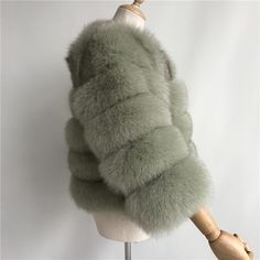 Luxurious 100% Genuine Thick Fox Fur Jacket Fox Fur Jacket, Fur Coat, Luxury, Casual, Leather, Jackets, Style, Fashion, Down Jackets