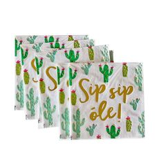 Sip, Sip, Ole | WITTYBASH.COM | Cactus Party | Fiesta Party | Cinco De Mayo Party Ideas | #cactus #cactusparty #fiesta #mexicanfiesta #cincodemayo #finalfiesta #cincodemayopartyideas