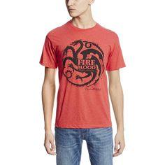 HBO'S Game of Thrones Men's Fire and Blood Targaryen T-Shirt