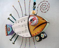 tuna fish found object sculpture-Some great fish finds from Etsy! Handmade gifts are extra special for the holidays!