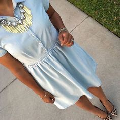 Chambray dress Old Navy // size xsmall // used once Old Navy Dresses