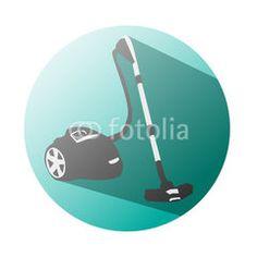 Vacuum cleaner icon supermaket #button #fotolia #design #concept #tool #cart #shop #online #services #icon #vector #business