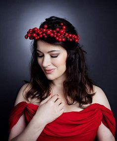 Nigella Lawson in red. I think I am a little less straight after seeing this.