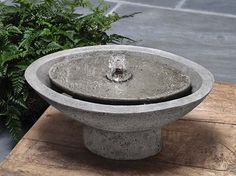 Campania International, Inc Zen Oval Garden Cast Stone Garden Terrace Fountain Finish: Ferro Rustico Concrete Fountains, Garden Water Fountains, Stone Fountains, Concrete Garden, Fountain Garden, Fountain Ideas, Outdoor Fountains, Concrete Art, Tabletop Fountain