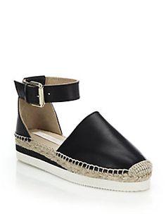 See by Chloé - Glyn Leather Espadrille Flatform Sandals