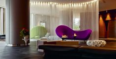 The Hub Hotel: Moroso Victoria and Albert Sofa designed by Ron Arad | Moroso Osorom Bench designed by Konstantin Grcic | Moroso Lowseat Armchair designed by Patricia Urquiola