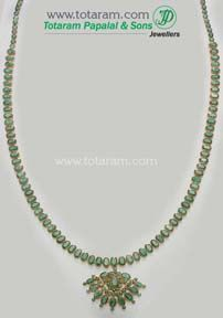Totaram Jewelers: Buy 22 karat Gold jewelry & Diamond jewellery from India: Ruby & Emeralds Necklaces