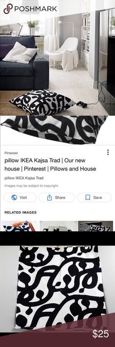 Ikea kajsa trad pillow cover Barely used one 26 x 26 inch pillow cover. Adorable and makes a statement in the home! ikea Accessories
