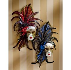 Find decorative wall masks in Design Toscano's collection of wall decor. Our colorful Mardi Gras wall mask decor and decorative animal masks will help you create a wall display that your guests will admire. Venetian Carnival Masks, Venetian Masquerade Masks, Flower Background Wallpaper, Flower Backgrounds, Aztec Mask, Drama Masks, Venice Mask, Ceramic Mask, Large Paper Flowers
