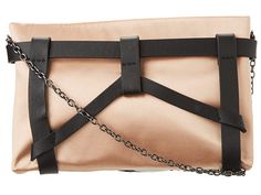 BCBGMAXAZRIA Satin Harness Clutch
