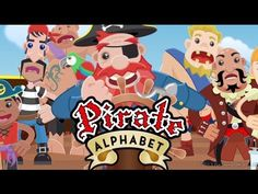 The Pirate Alphabet Song. A fun and high quality educational kids animation. Sail the seven seas and learn the alphabet with the Captain and his crew of pirates. Preschool Pirate Theme, Pirate Activities, Kindergarten Songs, Preschool Songs, School Themes, Classroom Themes, Pirate Day, Pirate Birthday, Pirate Songs