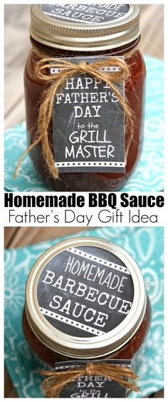 Homemade BBQ Sauce Father's Day Gift Idea