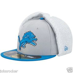 DETROIT LIONS ON FIELD DOG EAR NEW ERA 59FIFTY FITTED 2TONE HAT CAP Sz 7 17bc03d6d