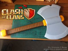 How to Create a Clash of Clans Valkyrie Battle Axe ~ FPSXGames