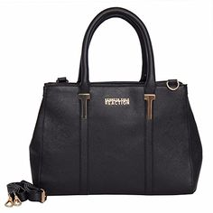 Kenneth Cole Reaction KN1860 Triple Entry Harriet Satchel Handbag (BLACK) See More: http://amzn.to/2hFxlk5