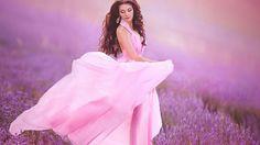 Model Makeup Dress Meadow Lavender