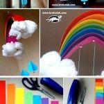 Rainbow & raindrops.. cute diy for kids room!