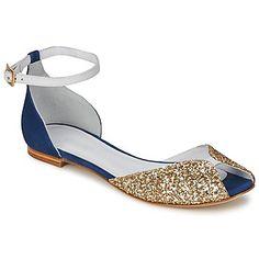 Sandale Emma Go JULIETTE Glitter Champagne / Bleu 350x350