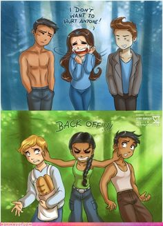 Yep.Exactly....Hunger Games..stil better love story then twilight,even with this picture