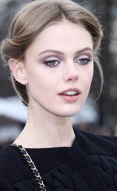 Frida Gustavsson; Blue eyes and killer overbite.