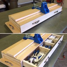 Finished building my custom #Kreg #jig work station, storage unit, #joinery center, #woodworking thingee. #diy